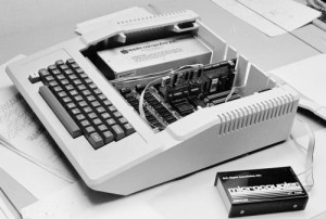 """Micromodem II in Apple II"" photo by Maury Markowitz"